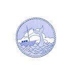 Whale 'n' ship by AndersHolmDK