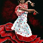 Poka dot and Flamenco by Anne Guimond