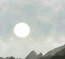 Mountain and Moon by suewen