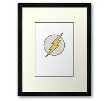 Knitted flash logo Framed Print