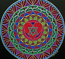 Open Heart Mandala by Keesha Goode