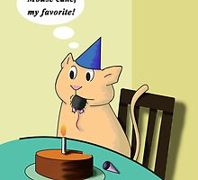 Birthday Cat by jkartlife
