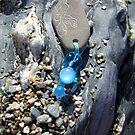 Turquoise Mermaid keychain by INma Gallego Gómez - Pastrana
