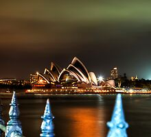 Opera House at night by moreannthm