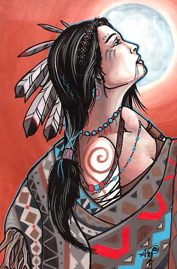 native moon maiden by resonanteye