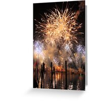 Fireworks on the Lagoon Greeting Card