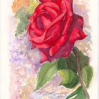 Red Valentine Rose by Dai Wynn