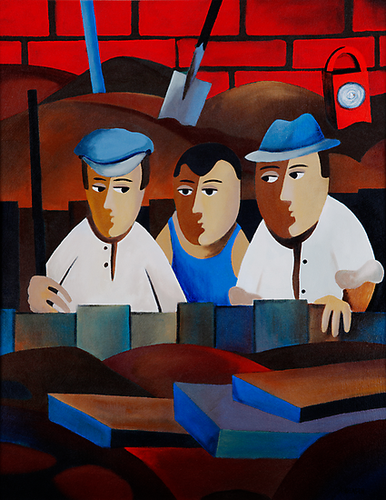 THREE MEN IN A TRENCH by Thomas Andersen