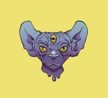 Three Eyed Sphinx In Blue Kids Clothes