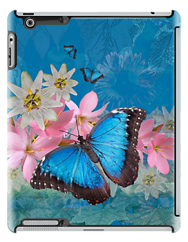 Morpho Magic iPad Case by Krys Bailey