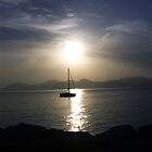 Sunset at Cannes by HazardousCoffee