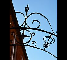 Wrought Iron Gate Detail - West Main Street Alley, Riverhead, New York  by © Sophie W. Smith