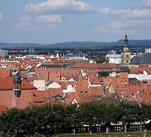 Rooftops of Bamberg, Germany by Erin K Casey