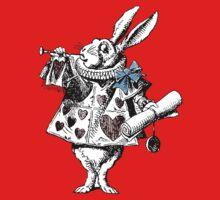 Alice in Wonderland White Rabbit T-Shirt by simpsonvisuals