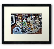 Barber Shop Tools Framed Print