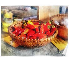 Vegetables - Hot Peppers in Farmers Market Poster