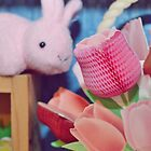 Bunny Collection #3 - a bunny and some flowers by Cyndy Ejanda