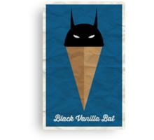 Black Vanilla Bat Canvas Print