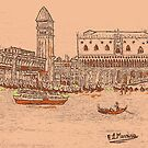 Laguna Woodcut by Loredana Messina