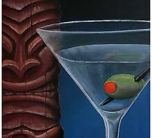Martini with Tiki by Tiki King