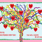 Rainbow Valentine Tree by Jana Gilmore