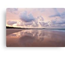 Mirror on Main Beach Canvas Print