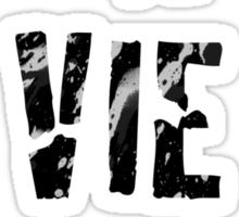 La Vie Boheme - Rent - Black Typography design Sticker