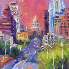 Austin Downtown art painting Congress Avenue Svetlana Novikova  by Svetlana  Novikova