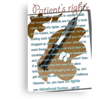 Patient's rights Canvas Print