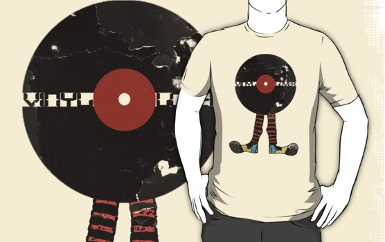 Funny Vinyl Records Lover - Grunge Vinyl Record by Denis Marsili