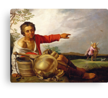 Shepherd Boy Pointing at Tobias and the Angel, c.1625-30 Canvas Print