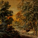 Wooded Landscape with Herdsman and Cattle, c.1770 by Bridgeman Art Library