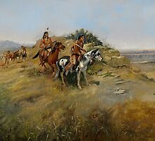 Buffalo Hunt, 1891 by Bridgeman Art Library