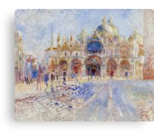 The Piazza San Marco, Venice, 1881 Canvas Print