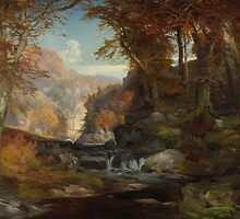 A Scene on the Tohickon Creek: Autumn, 1868 by Bridgeman Art Library