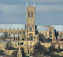 Lincoln Cathederal South Face by Mark Baldwyn