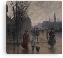 Rainy Evening on Hennepin Avenue, c.1902 Canvas Print