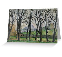 Chestnut Trees at Jas de Bouffan, c.1885-86  Greeting Card