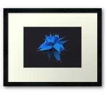 Blue Polygon Framed Print
