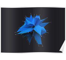 Blue Polygon Poster