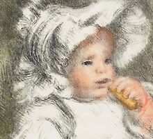 Child with a Biscuit, 1899 by Bridgeman Art Library