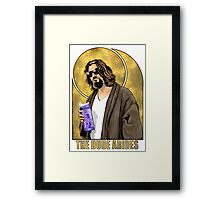 The Dude Big Lebowski Poster Framed Print