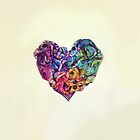 Rainbow Bubbles Heart by Angel Ray