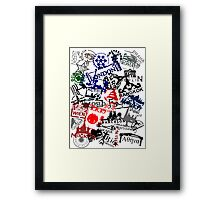 Travel Destination Passport Stamps Framed Print