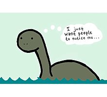 Socially Awkward Loche Ness Monster Photographic Print