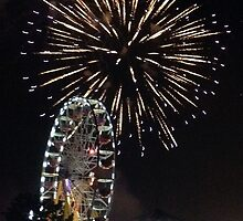 Fireworks and Ferris Wheel Print by DreamByDay