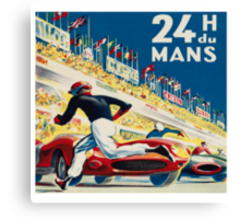 Vintage - 24 Hours of Le Mans (24 H du Mons) Canvas Print