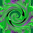 SWIRLING GREEN AND PURPLE by suzeee