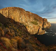 Evening light on the sea cliffs of Cape Raoul - Tasman Peninsula by Mark Shean