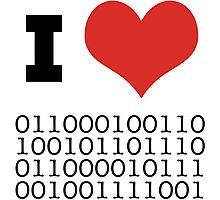 I Heart Binary Photographic Print